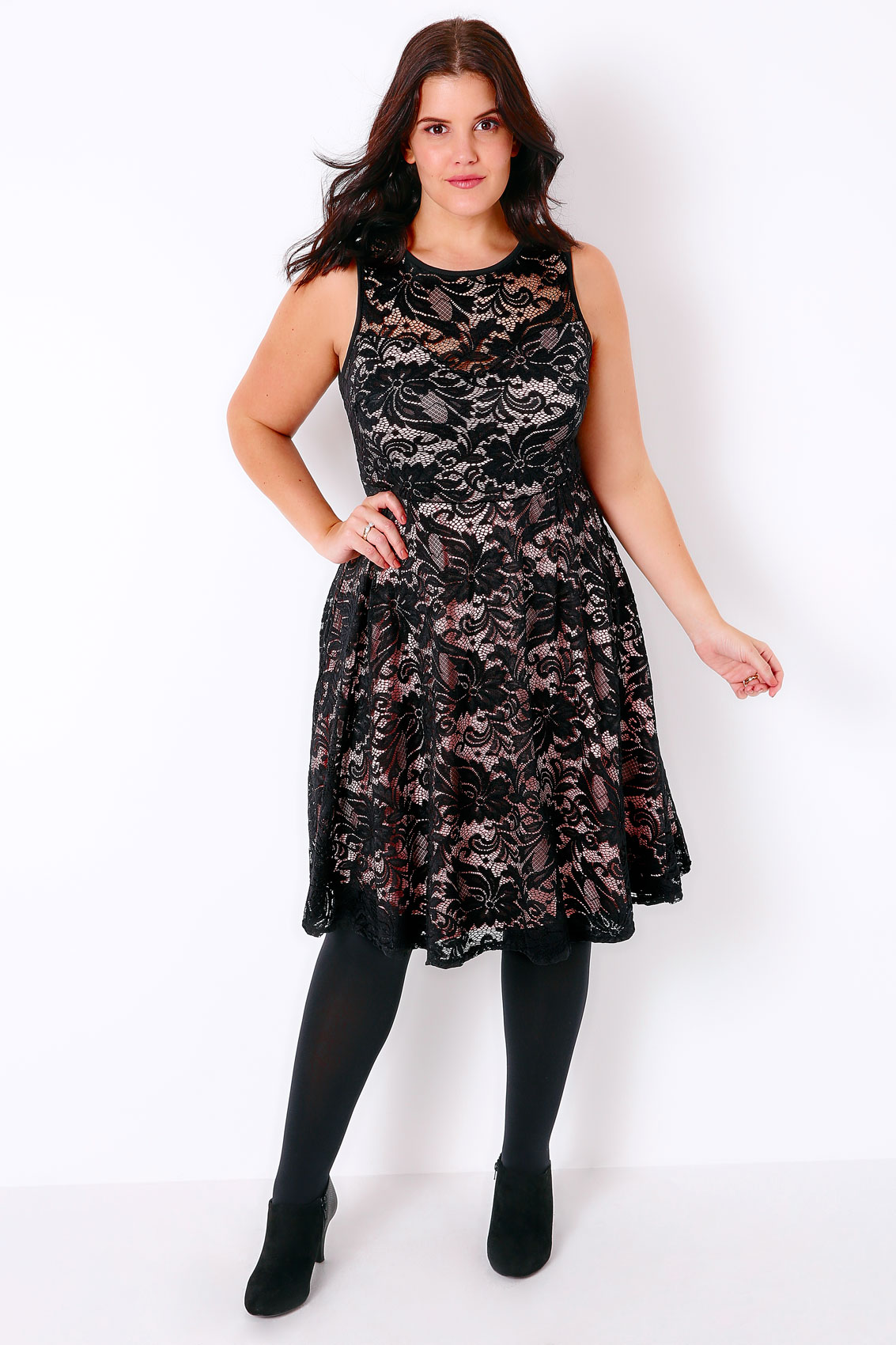 Check out Tobi's Emily Lace Bodycon Dress Spice it up with the Emily Black Lace Bodycon Dress! Featuring a beautiful lace overlay with a fully lined interior .