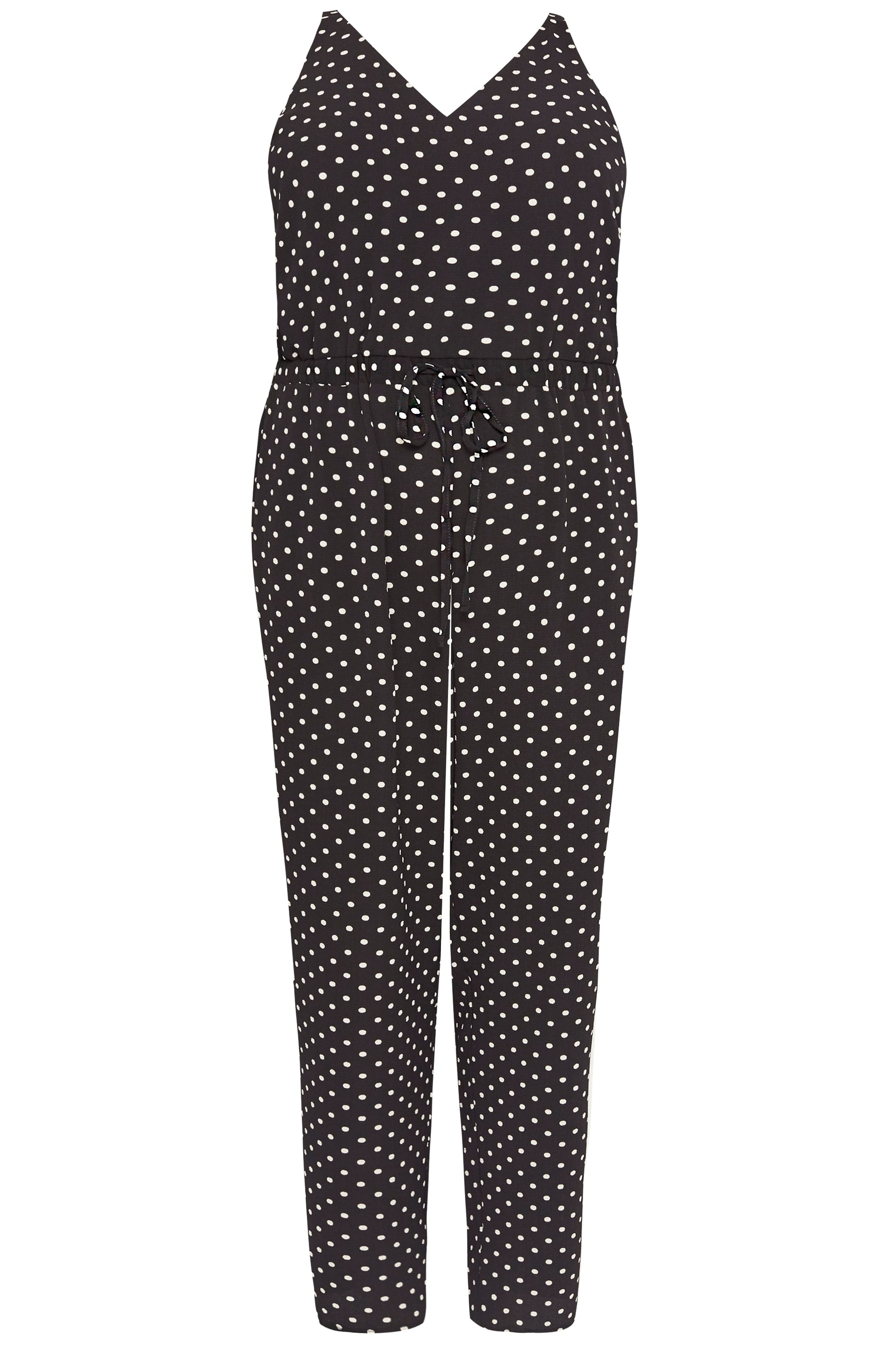 23c225e1a676d Plus Size Black Polka Dot Jumpsuit | Sizes 16 to 36 | Yours Clothing