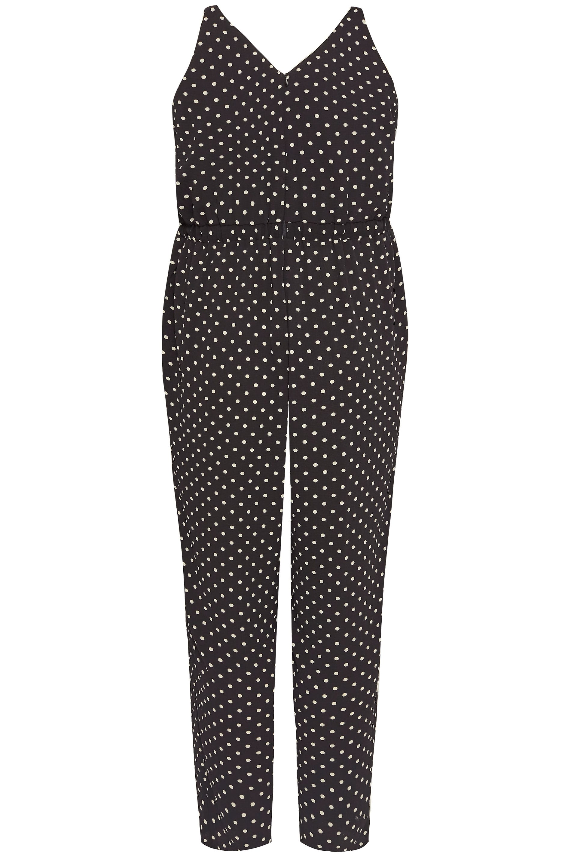 Plus Size Black Polka Dot Jumpsuit Sizes 16 To 36 Yours Clothing