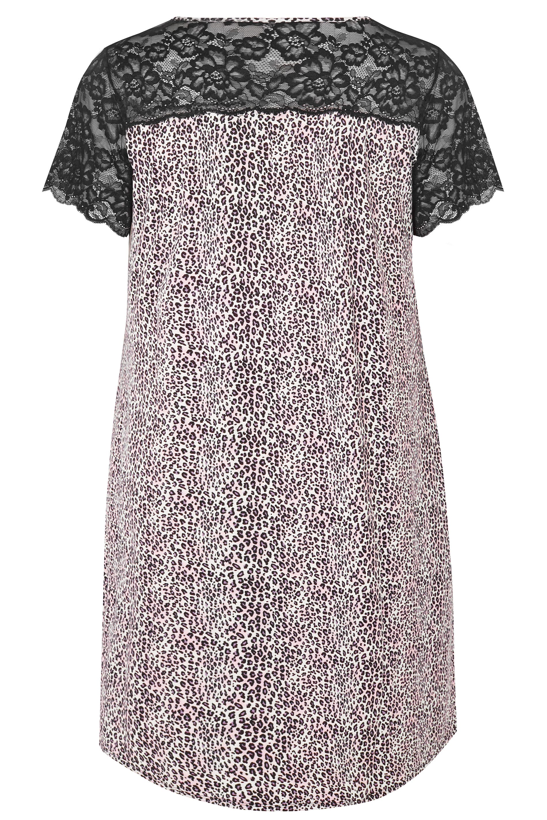 760cabcfbe Black   Purple Leopard Print Lace Loungewear Nightdress. ‹ ›