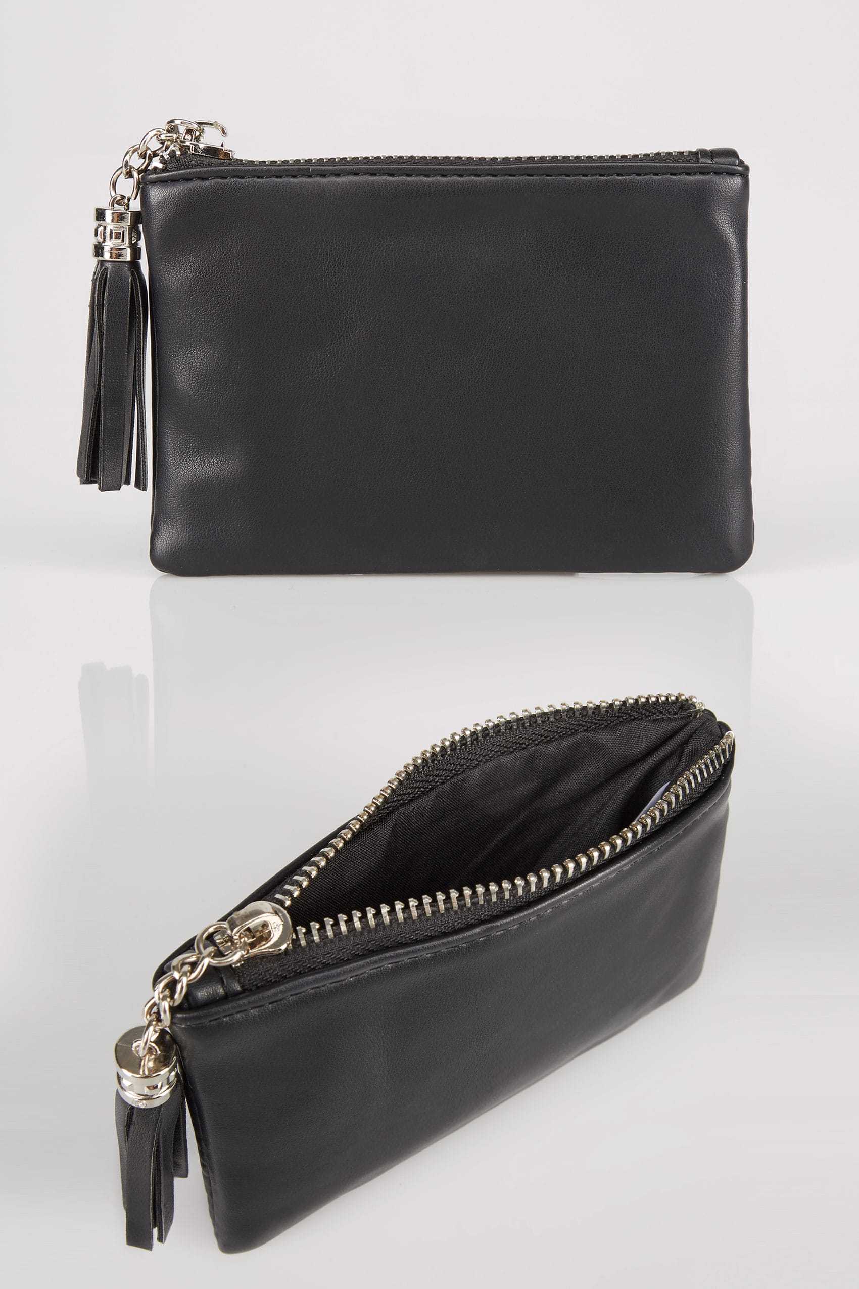 Decorating A Small Living Dining Room: Black Small Zip Purse With Tassel Charm