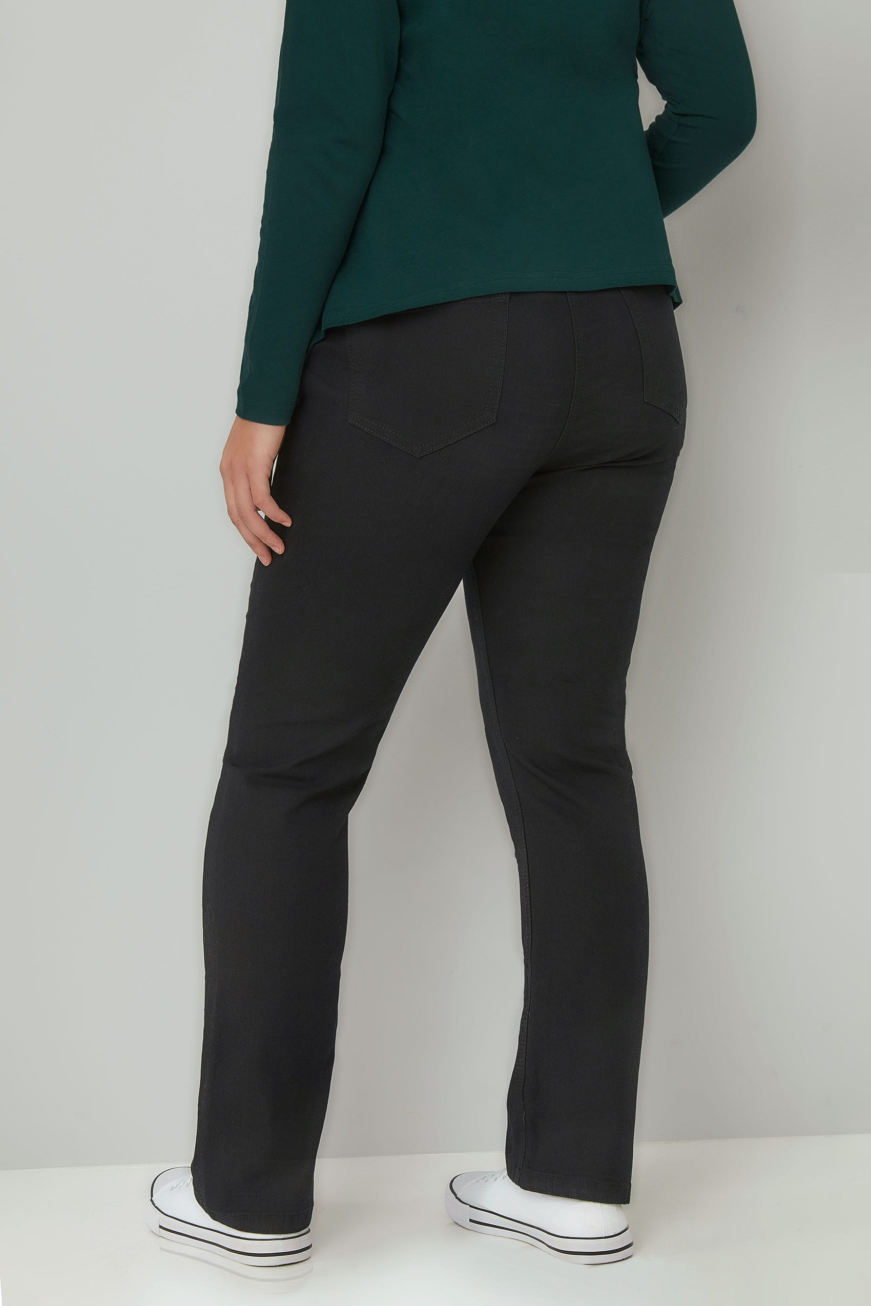Black Straight Leg Ruby Jeans Plus Size 16 To 36