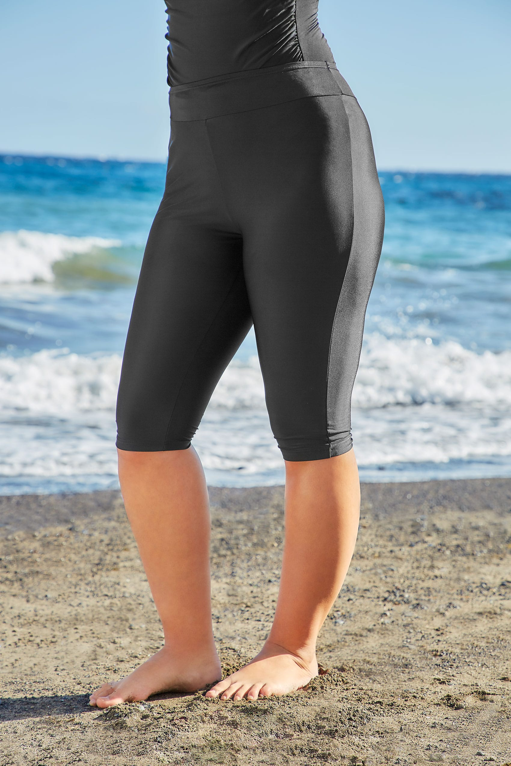 Black Stretch Swim Shorts Plus Sizes 16,18,20,22,24,26,28 -6792