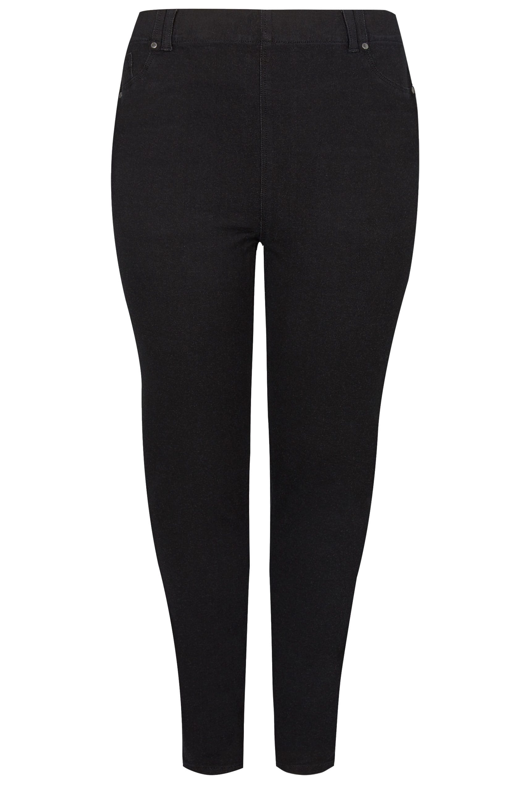 Rooms: Black Ultimate Comfort BEST FRIEND Jeggings , Plus Size 16