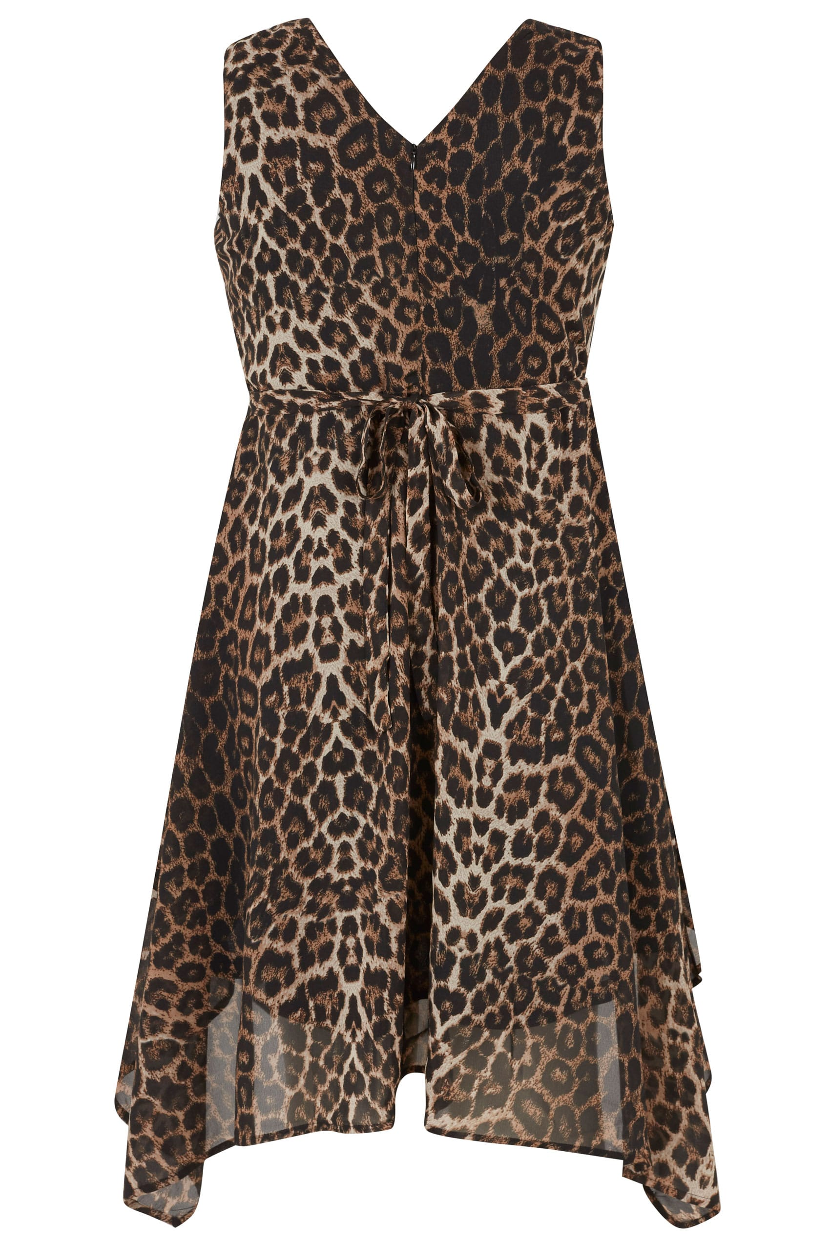 Wrap Dress stampa leopardo con Hem Hanky, Plus Size 16 a 32-8157