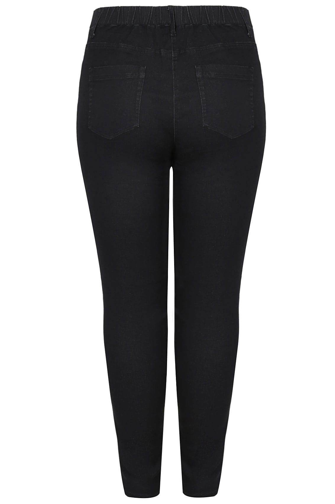 Rooms: Black Washed Ultimate Comfort Stretch Jeggings, Plus Size