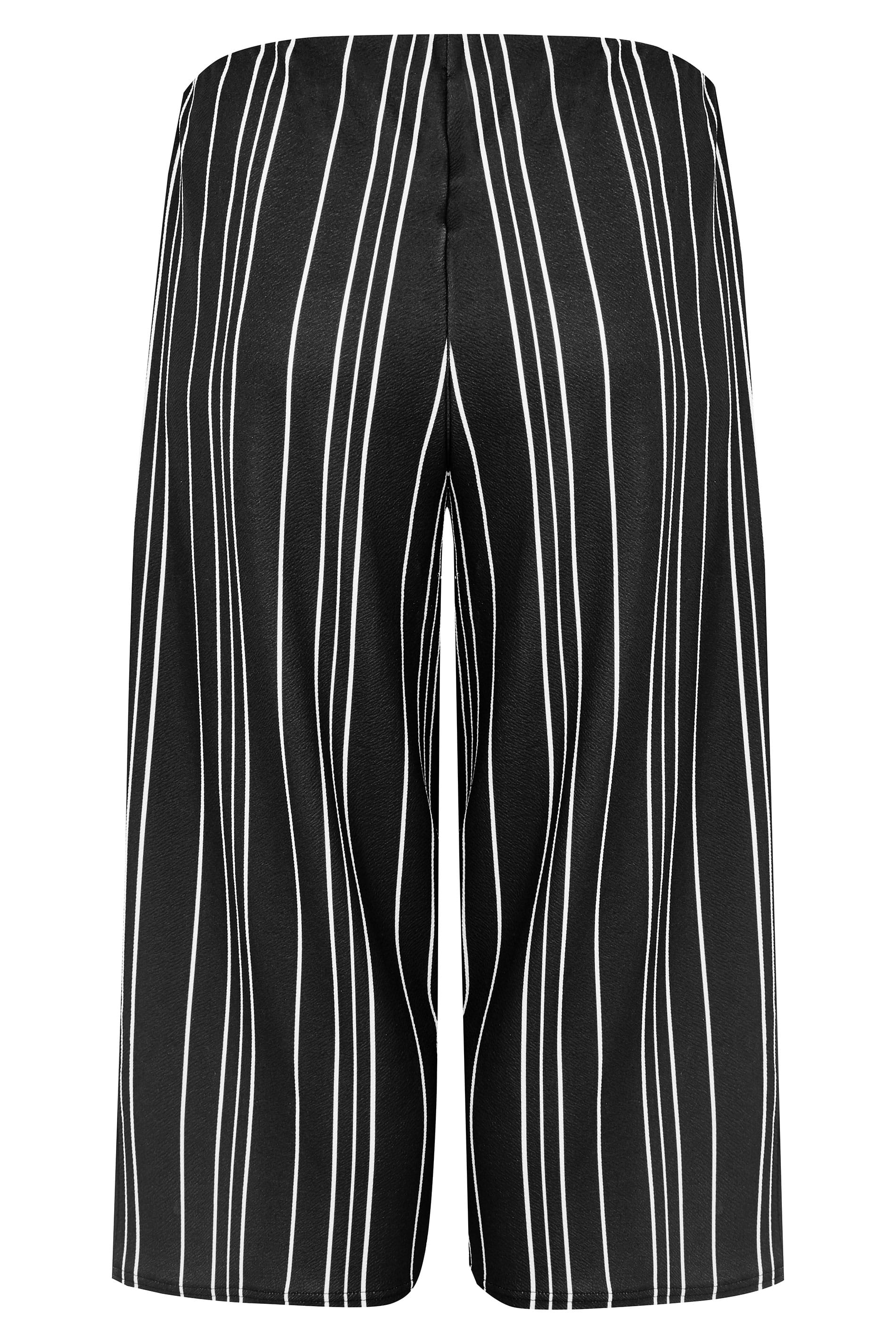 b693aef536aa9 Black   White Striped Culottes