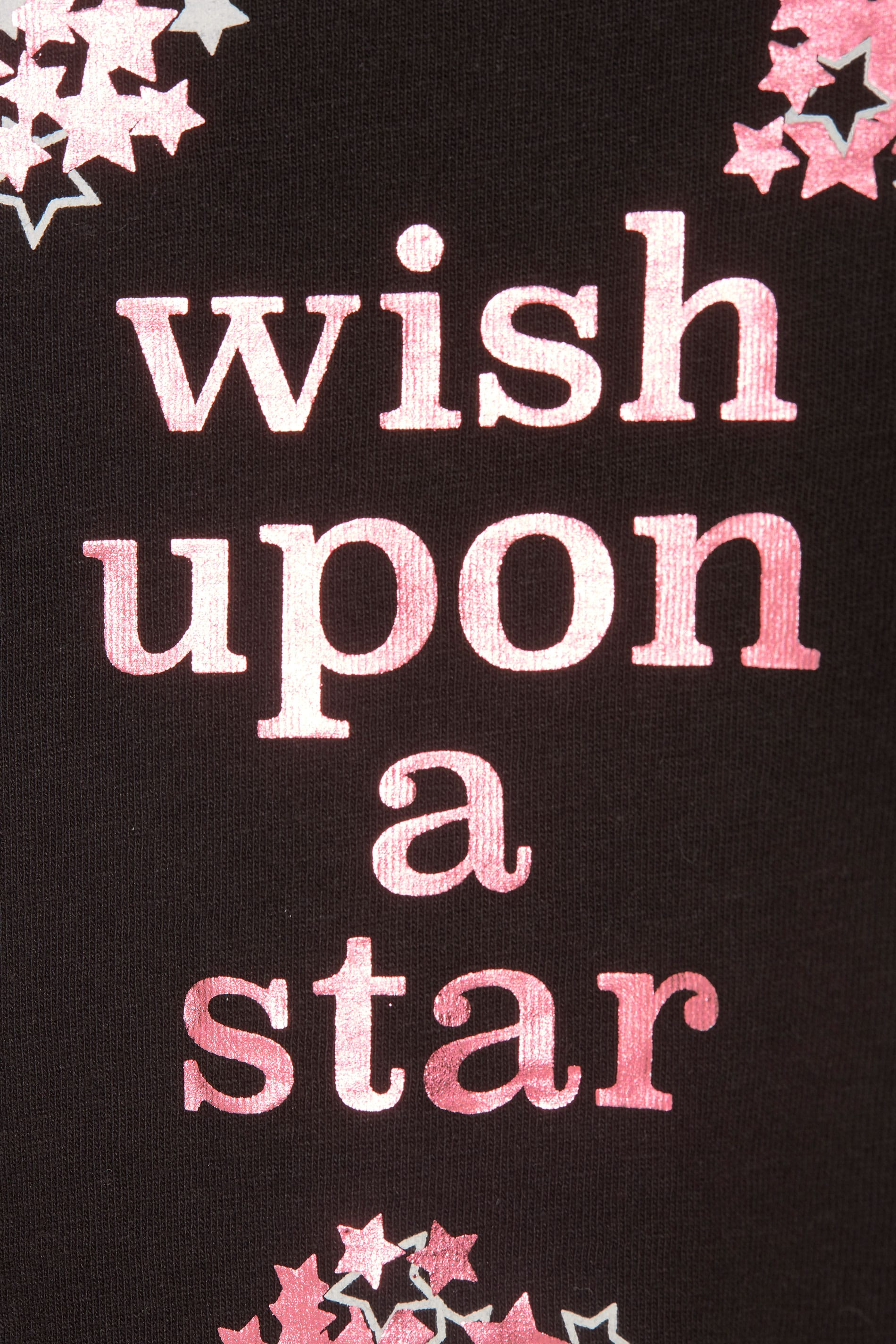 zwart 39 wish upon a star 39 pyjama shirt grote maten 44 64. Black Bedroom Furniture Sets. Home Design Ideas