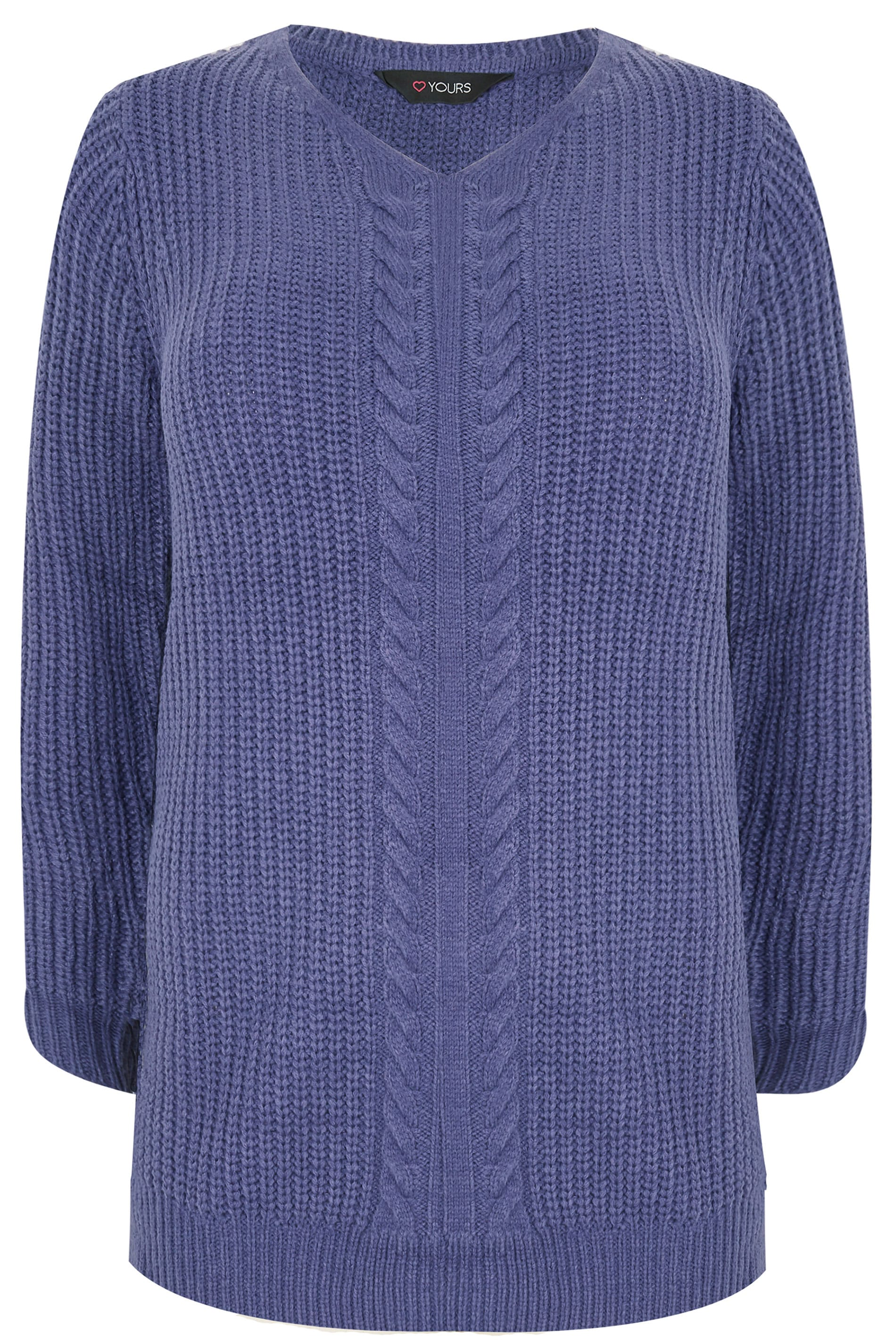 9a6e41fff5 Blue Cable Knit Jumper