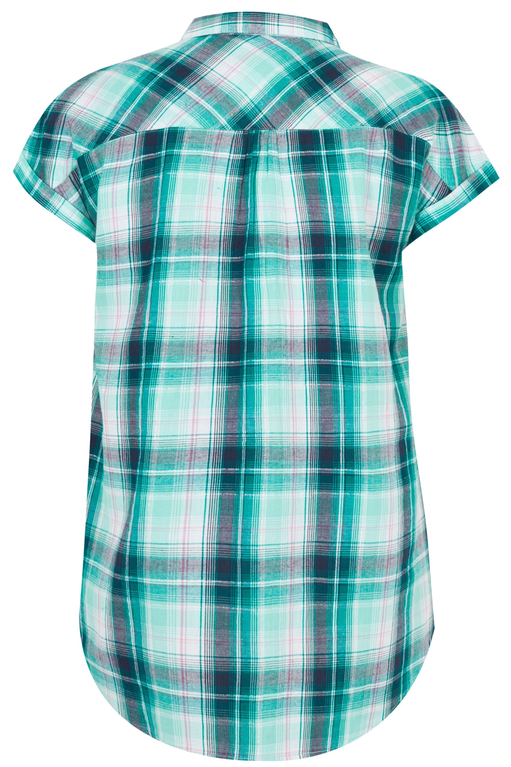 blue amp green pastel checked shirt with short grownon