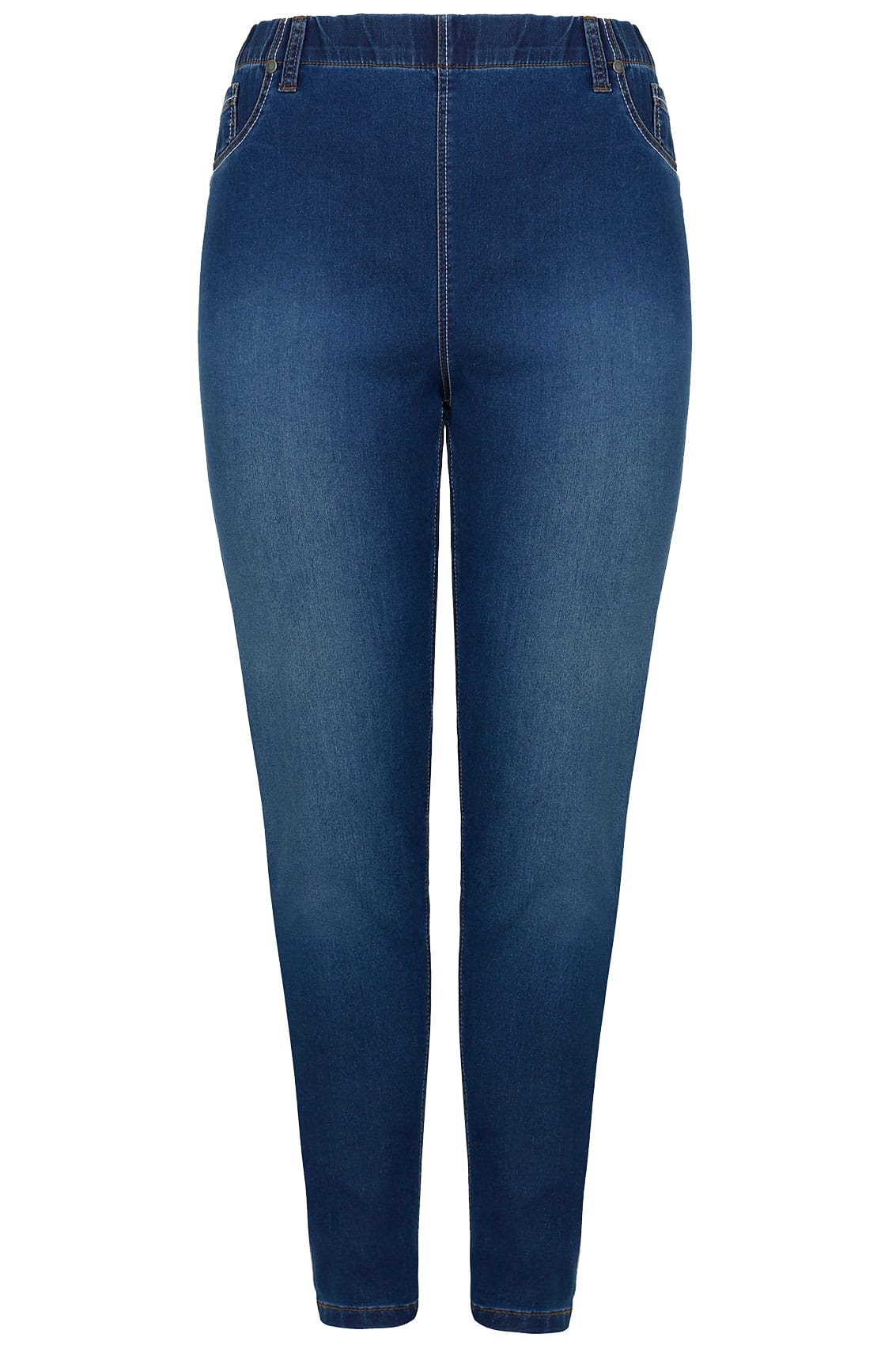 Rooms: Blue Washed Ultimate Comfort Stretch Jeggings, Plus Size