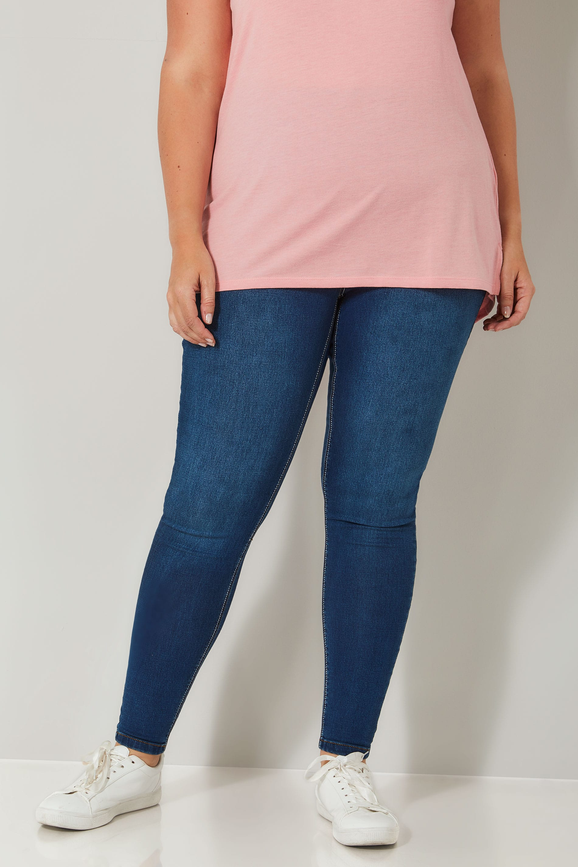 Jeggings mit blauer waschung und ulimativer comfort stretch jenny gro e gr en 44 64 - Div background image ...