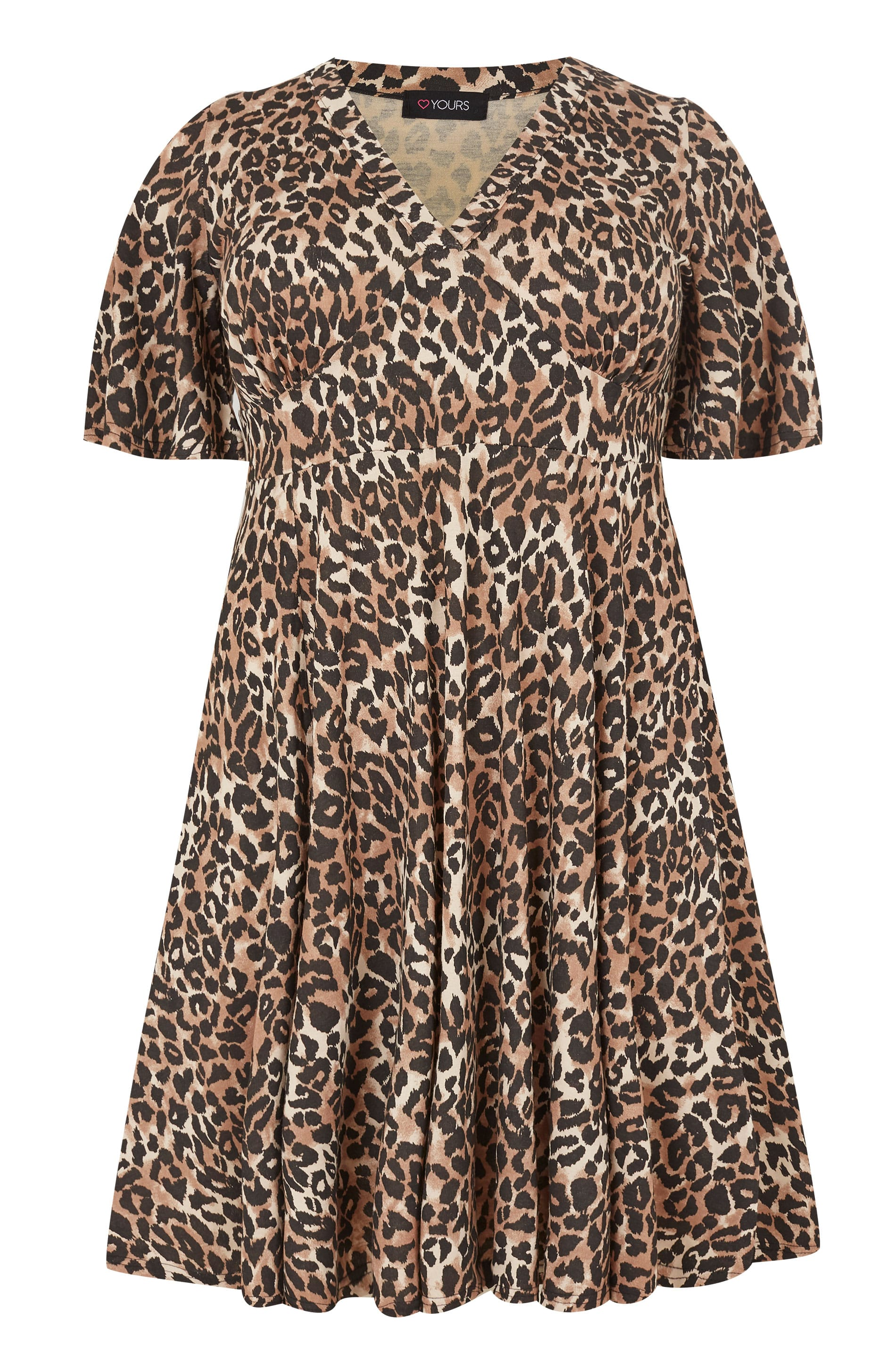36401efe07 Brown Leopard Print Fit   Flare Dress