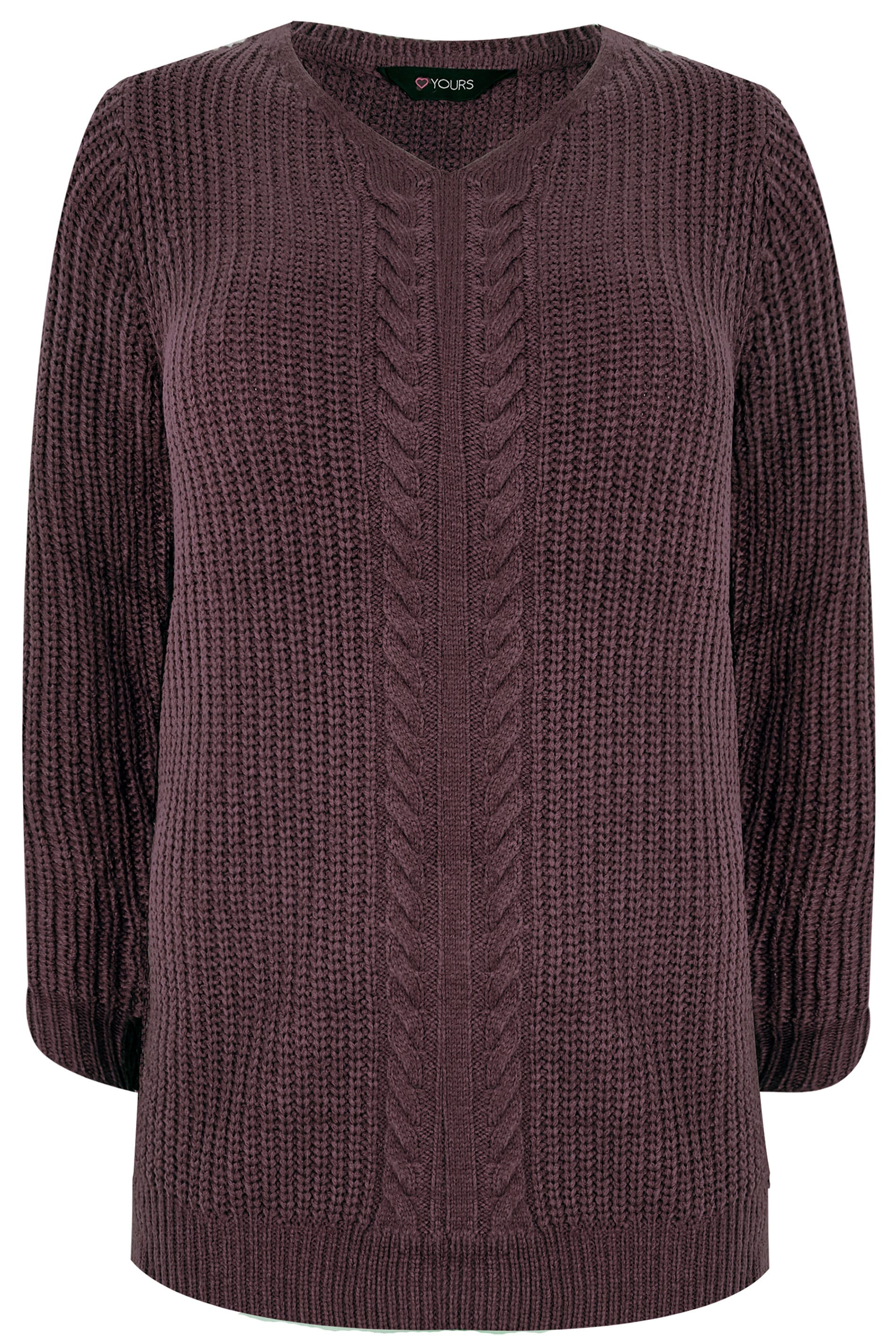 58a1f882de Burgundy Cable Knit Jumper