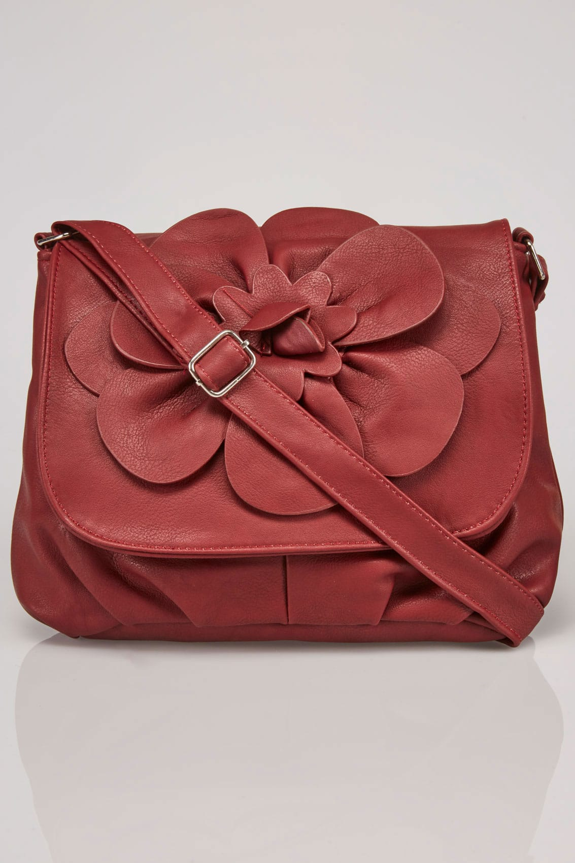 Burgundy flower shoulder bag with adjustable strap for Supermarket bag packing letter template