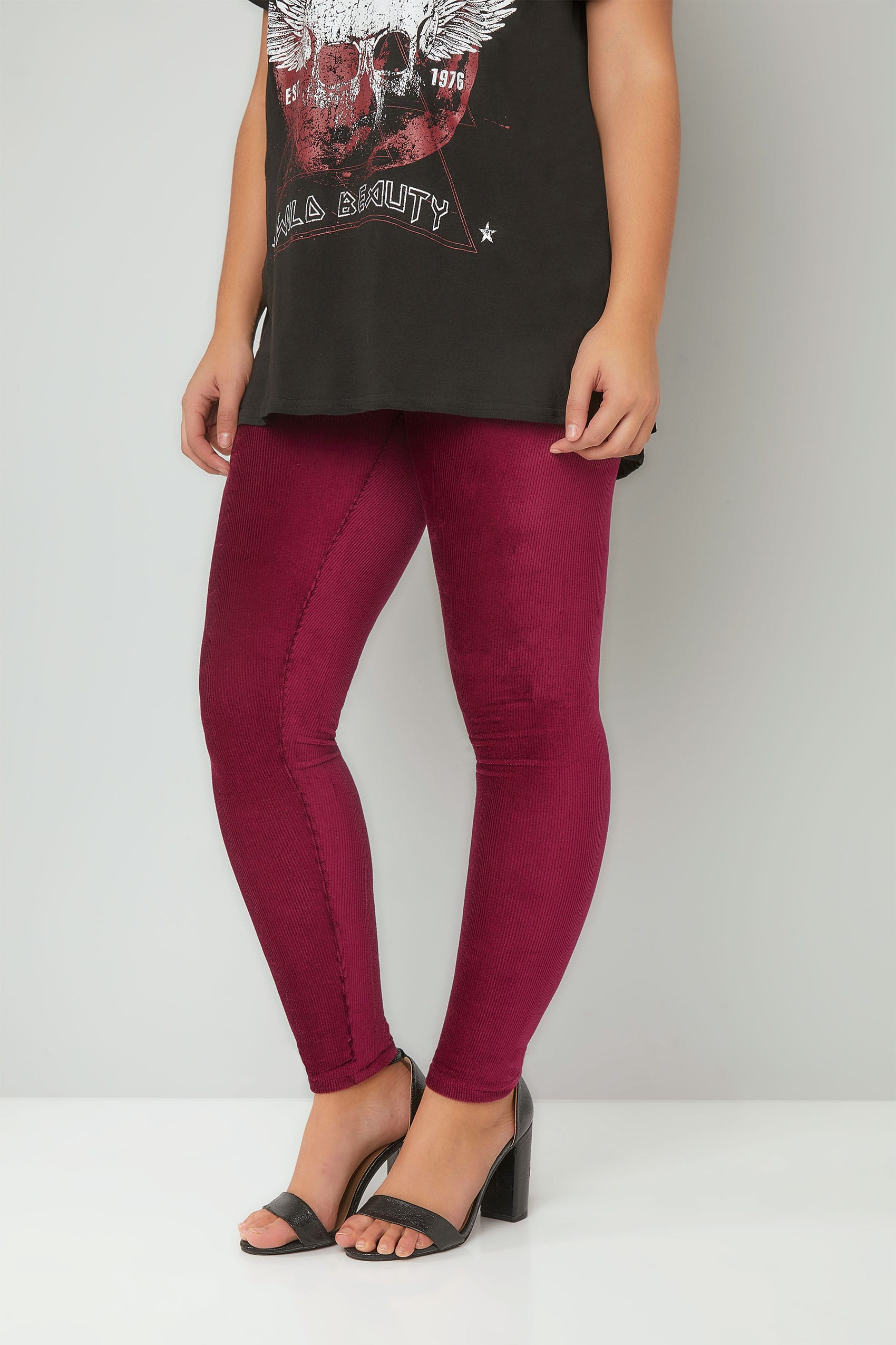 leggings en velour couleur burgundy taille 44 64. Black Bedroom Furniture Sets. Home Design Ideas