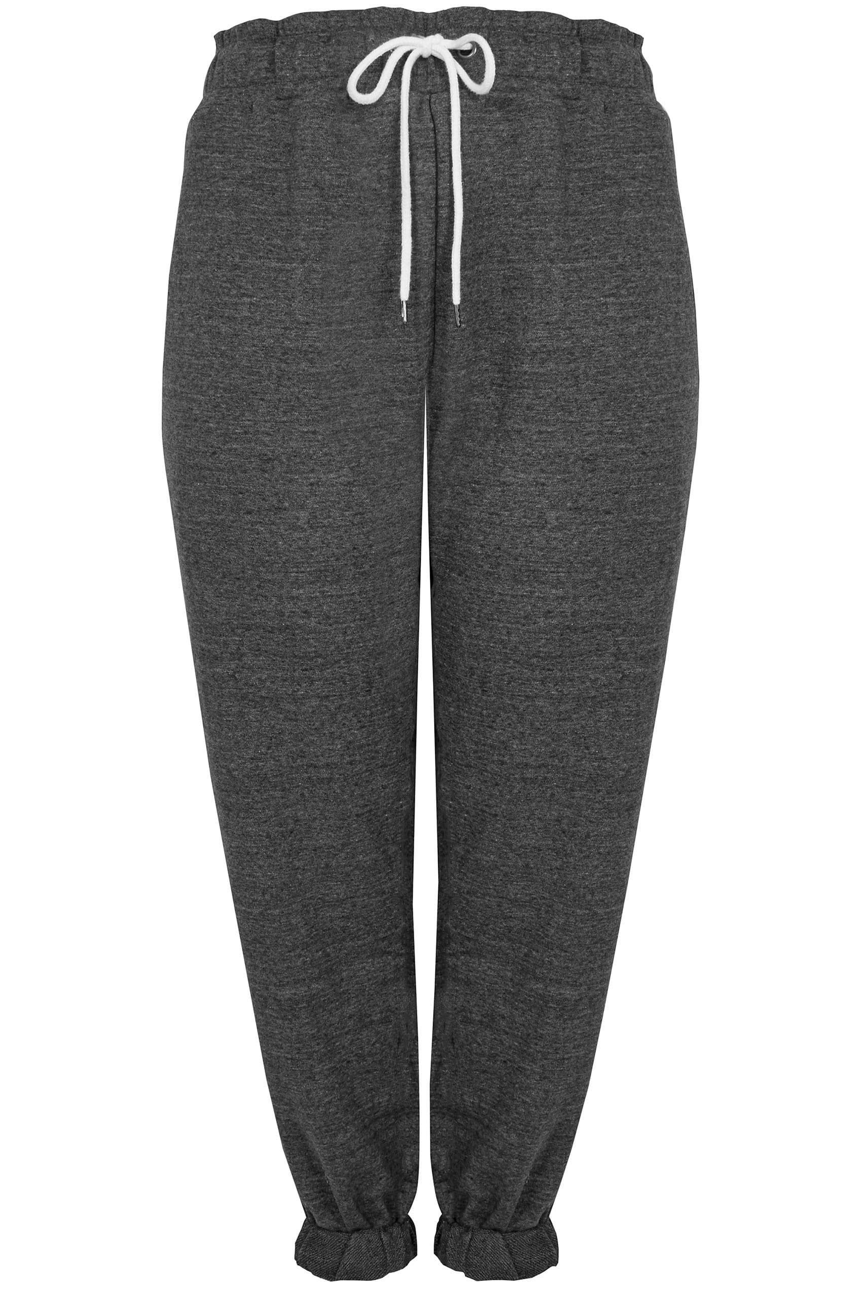 pantalon de jogging gris avec ourlets lastiques aux chevilles taille 44 64. Black Bedroom Furniture Sets. Home Design Ideas