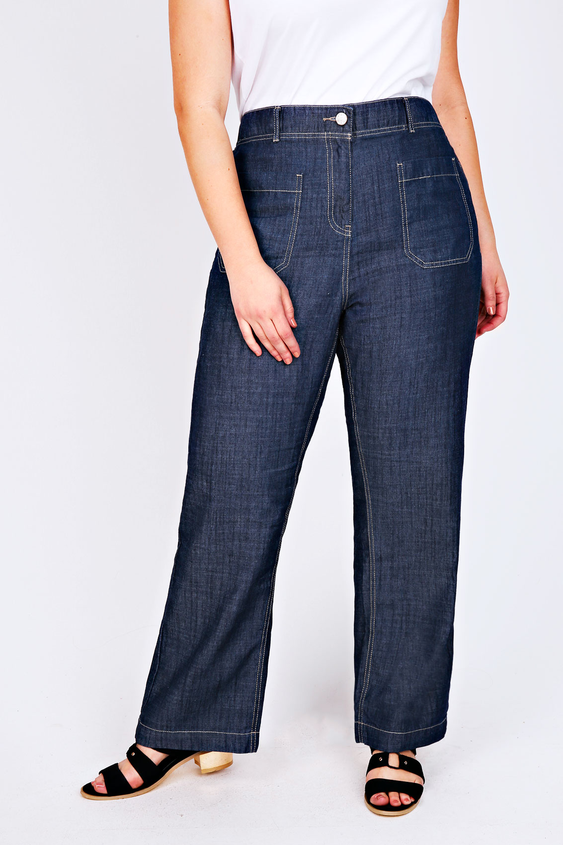 Find great deals on eBay for plus size wide leg jeans. Shop with confidence.