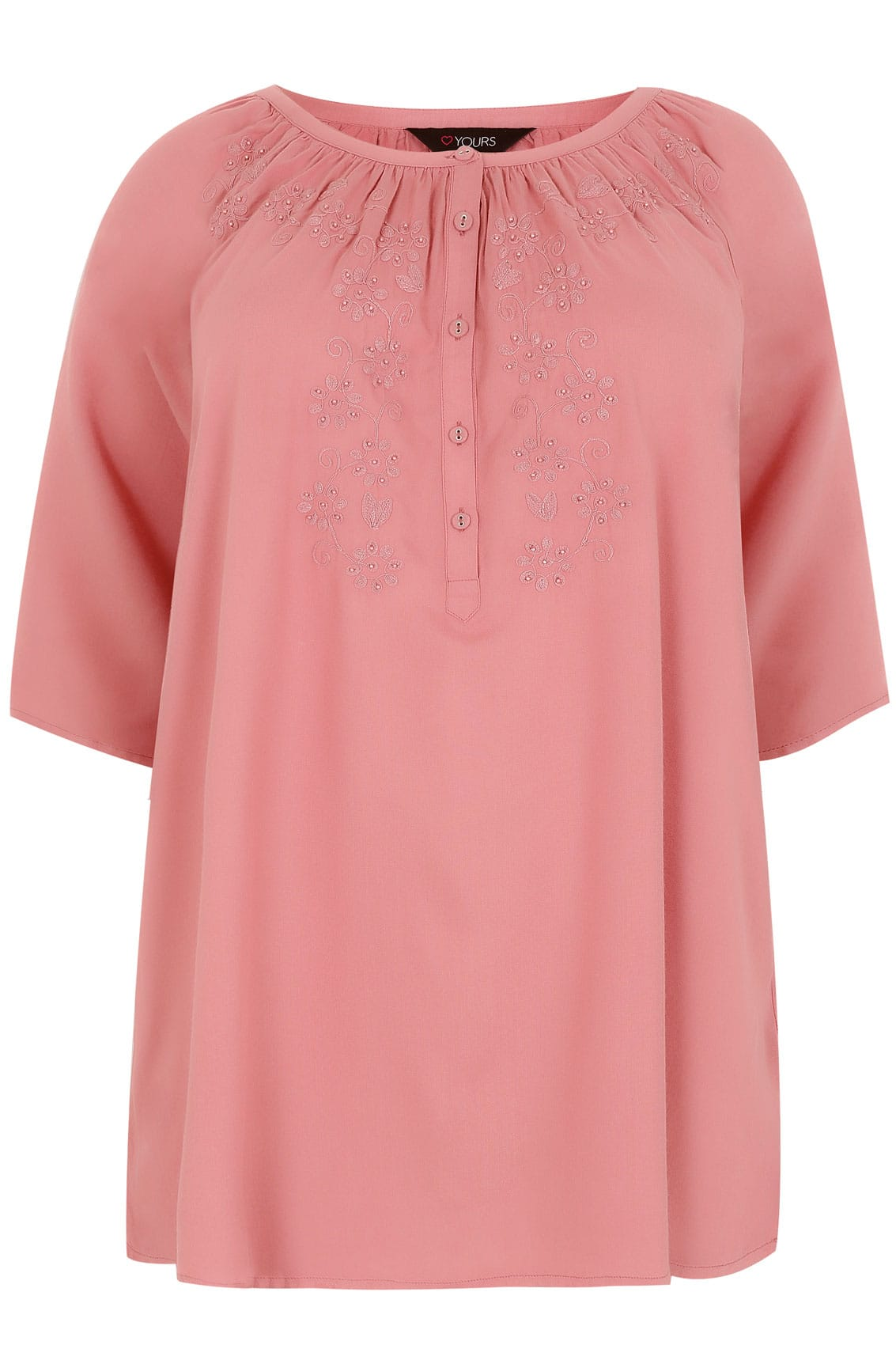 Blouse boh me rose sombre avec d tails broderie taille 44 for Booking terms and conditions template
