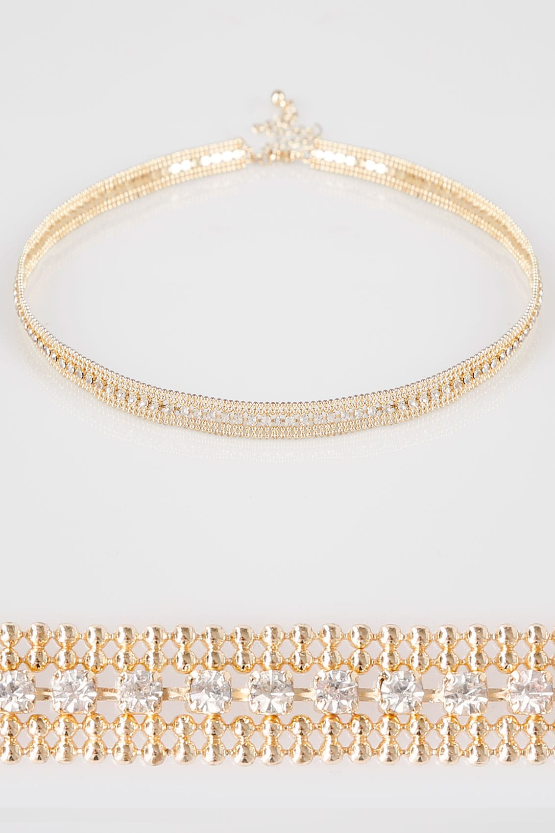 Gold diamante encrusted choker for Buy here pay later