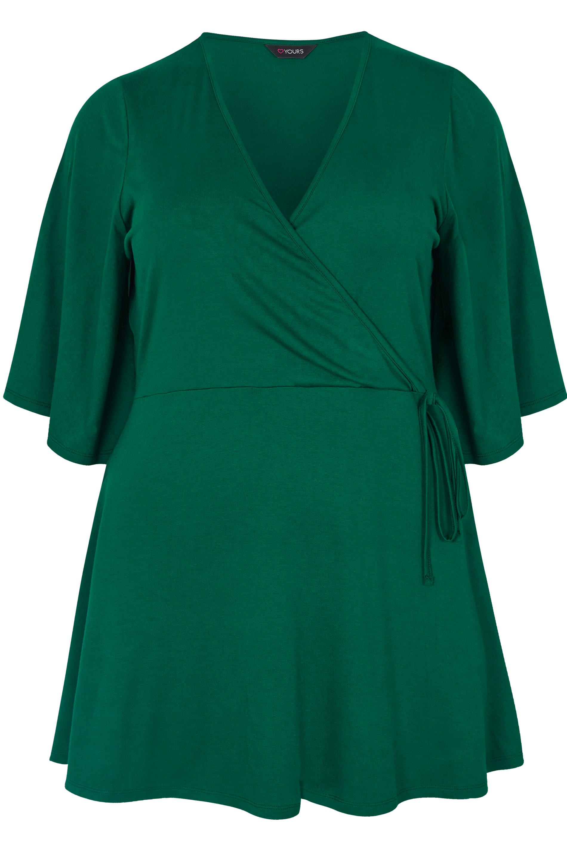 Plus Size Green Kimono Wrap Top Sizes 16 To 36 Yours