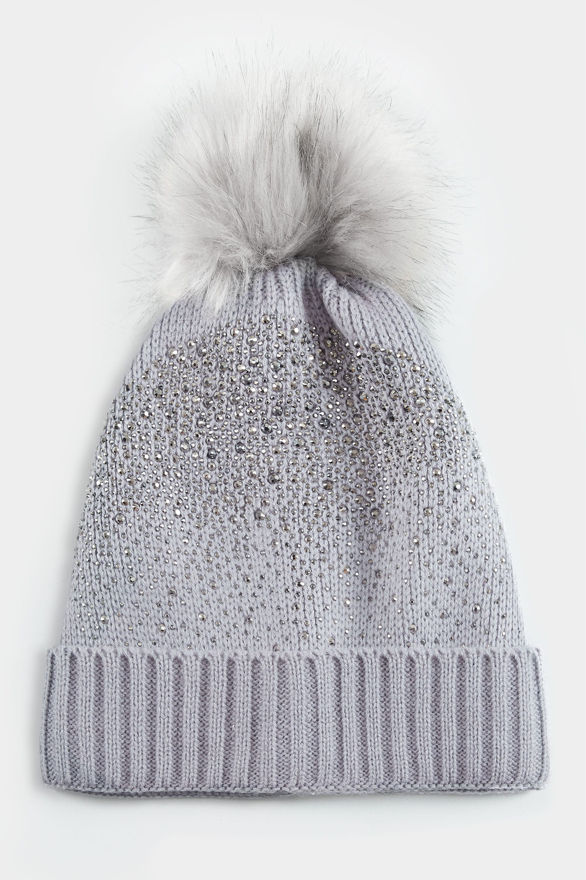 Grey Sparkle Hat With Pom-Pom 10ed088c374