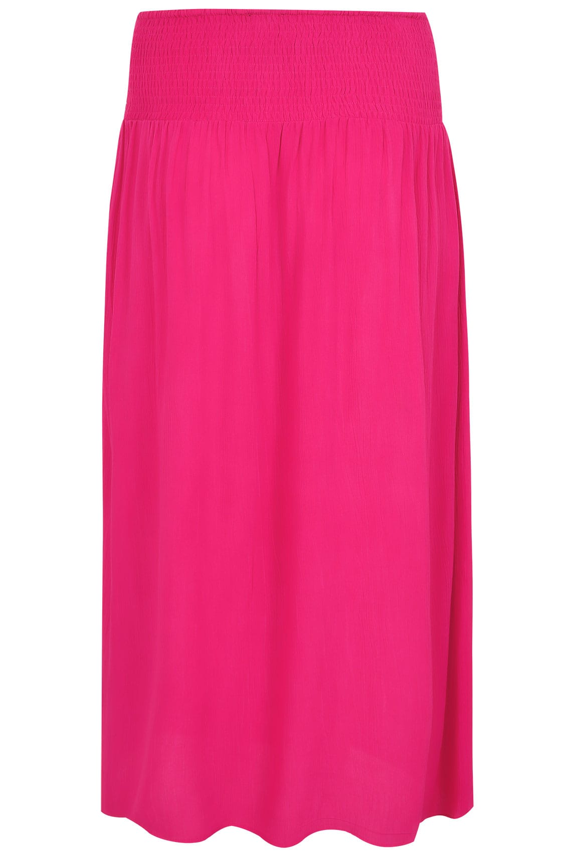 pink maxi skirt with ruched waistline plus size 16 to 36