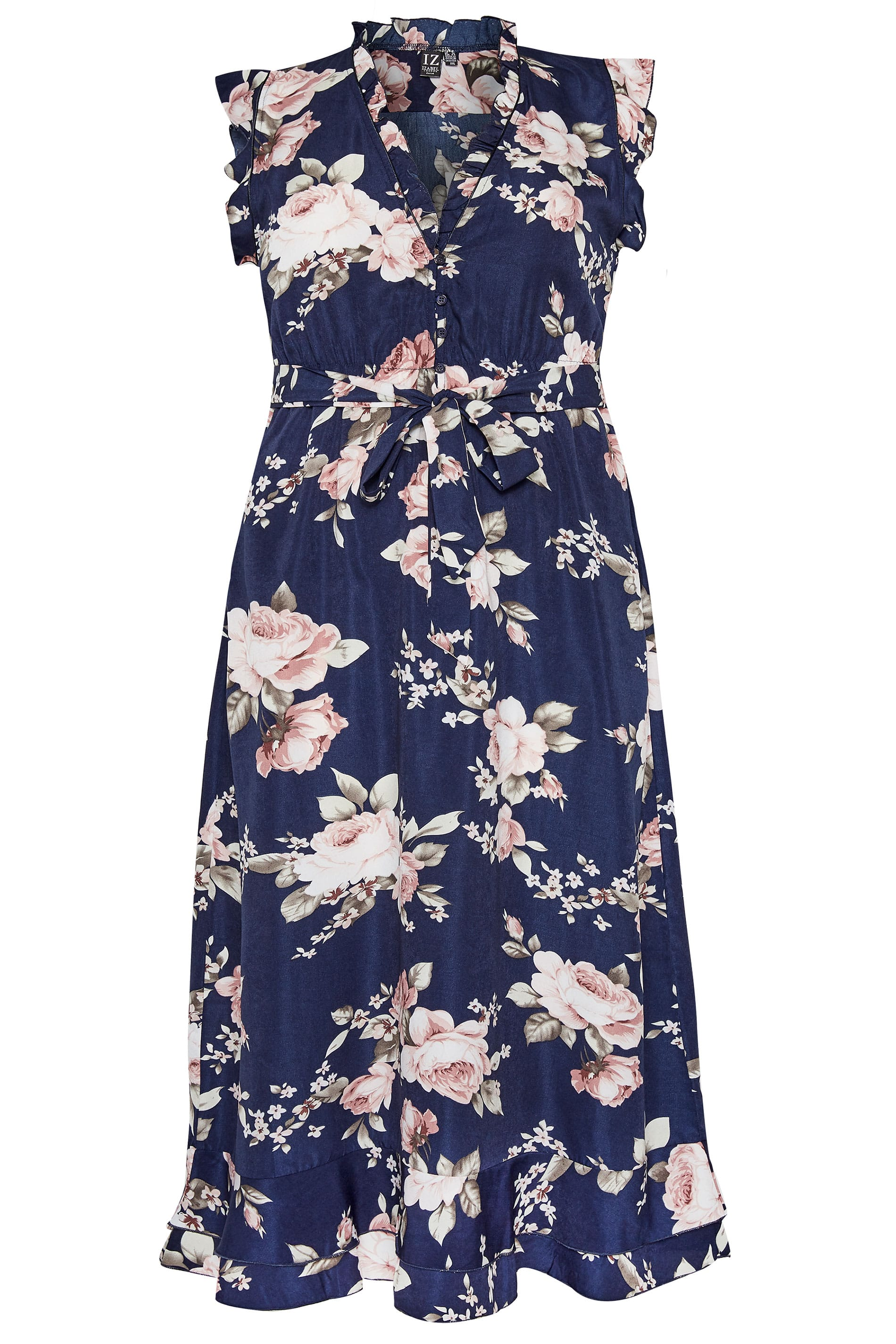 Izabel Curve Navy Floral Maxi Dress Plus Sizes 16 To 26