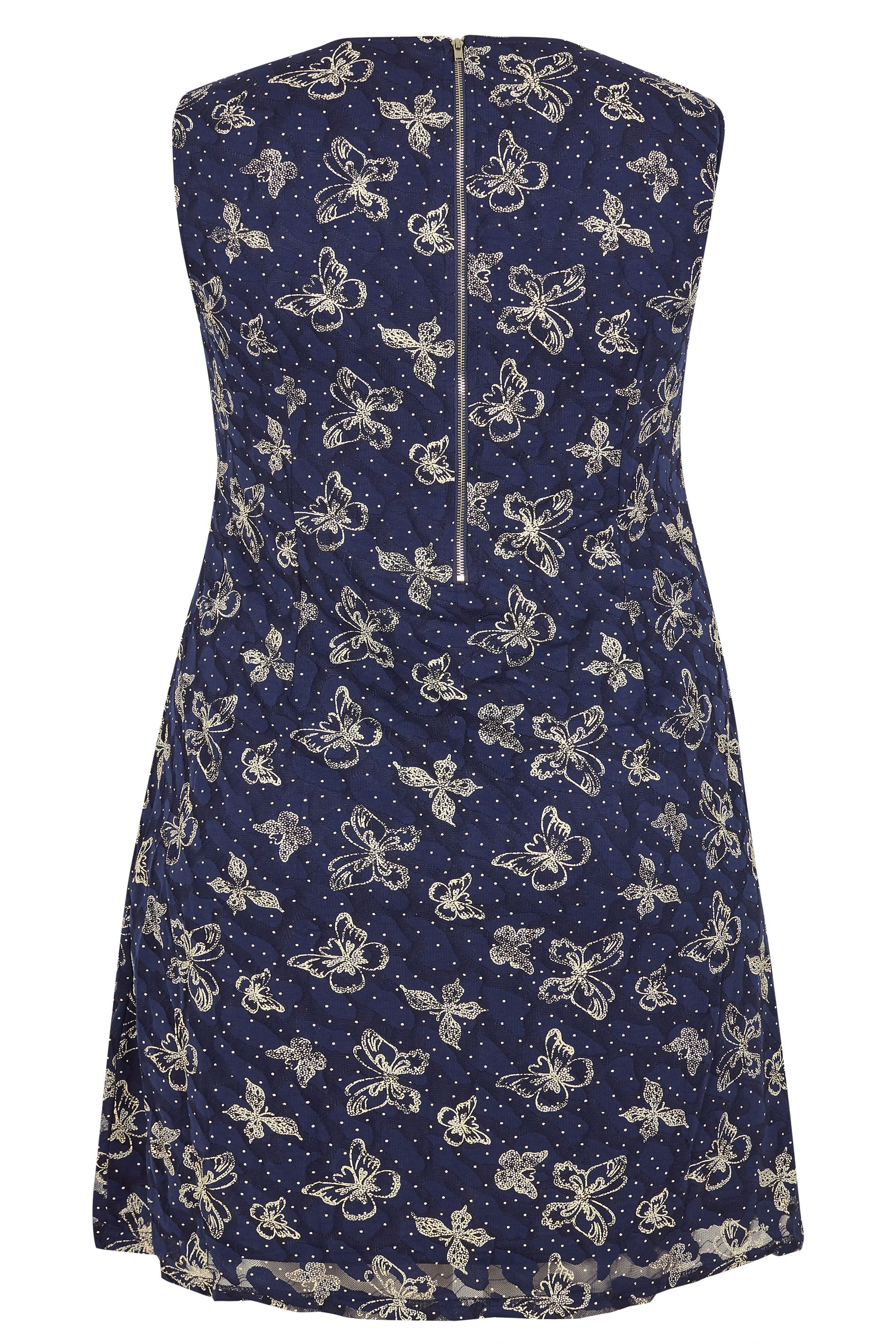 cacead1f55 IZABEL CURVE Navy Lace Butterfly Dress