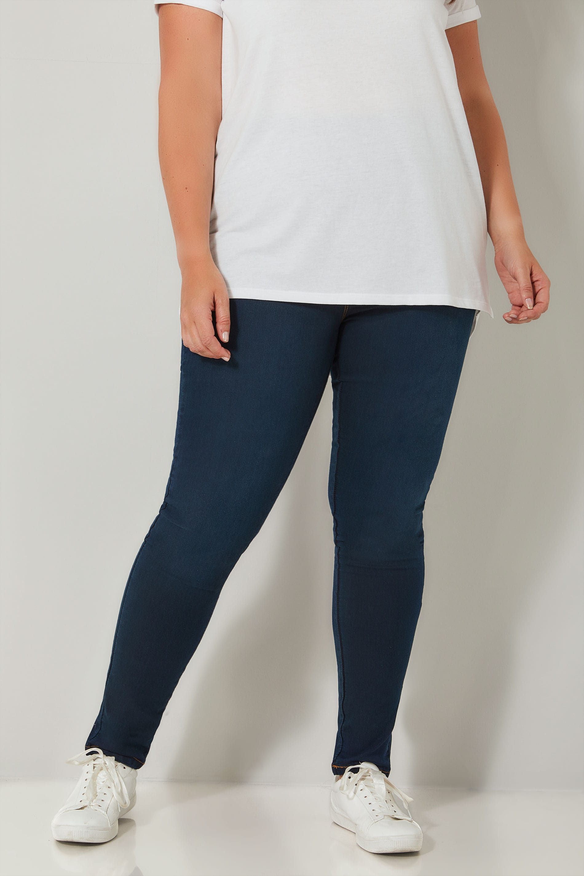 Rooms: Indigo Blue Pull On JENNY Jeggings Plus Size 14 To 36