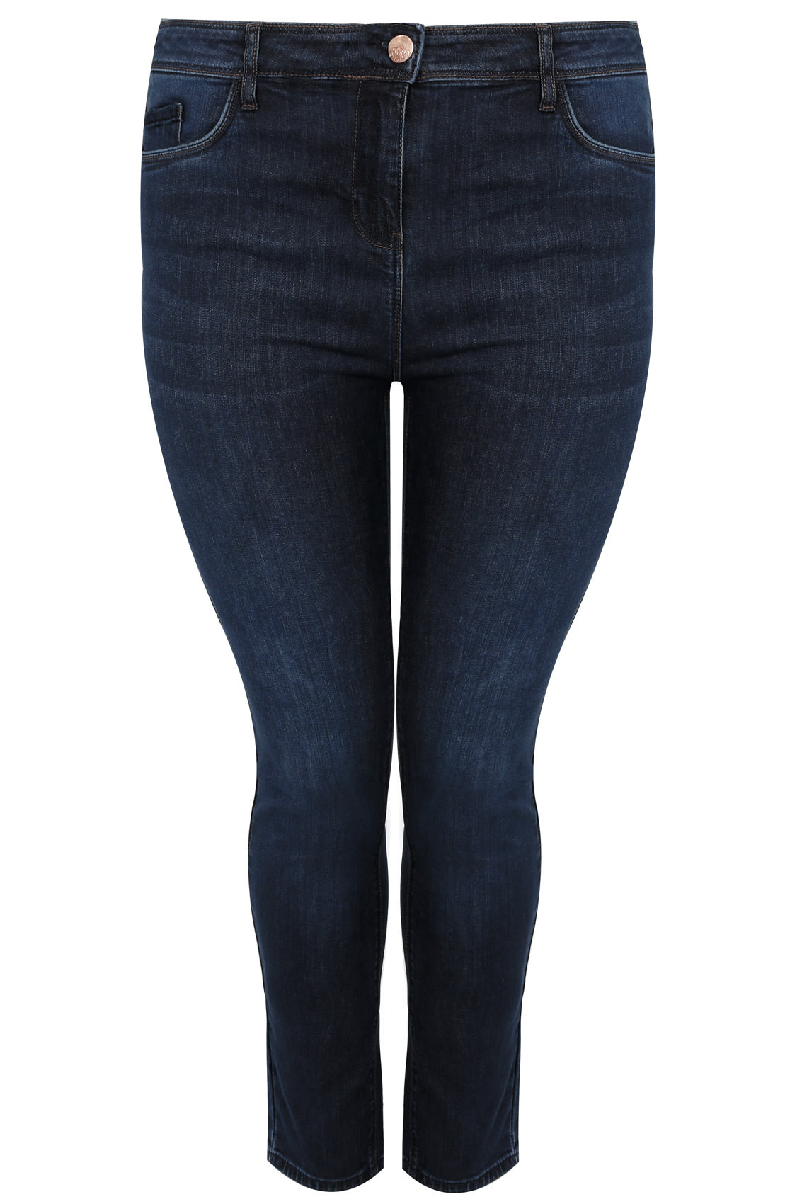 Indigo Blue Skinny Shaper Ava Jeans, Plus Size 14 To 28-4553