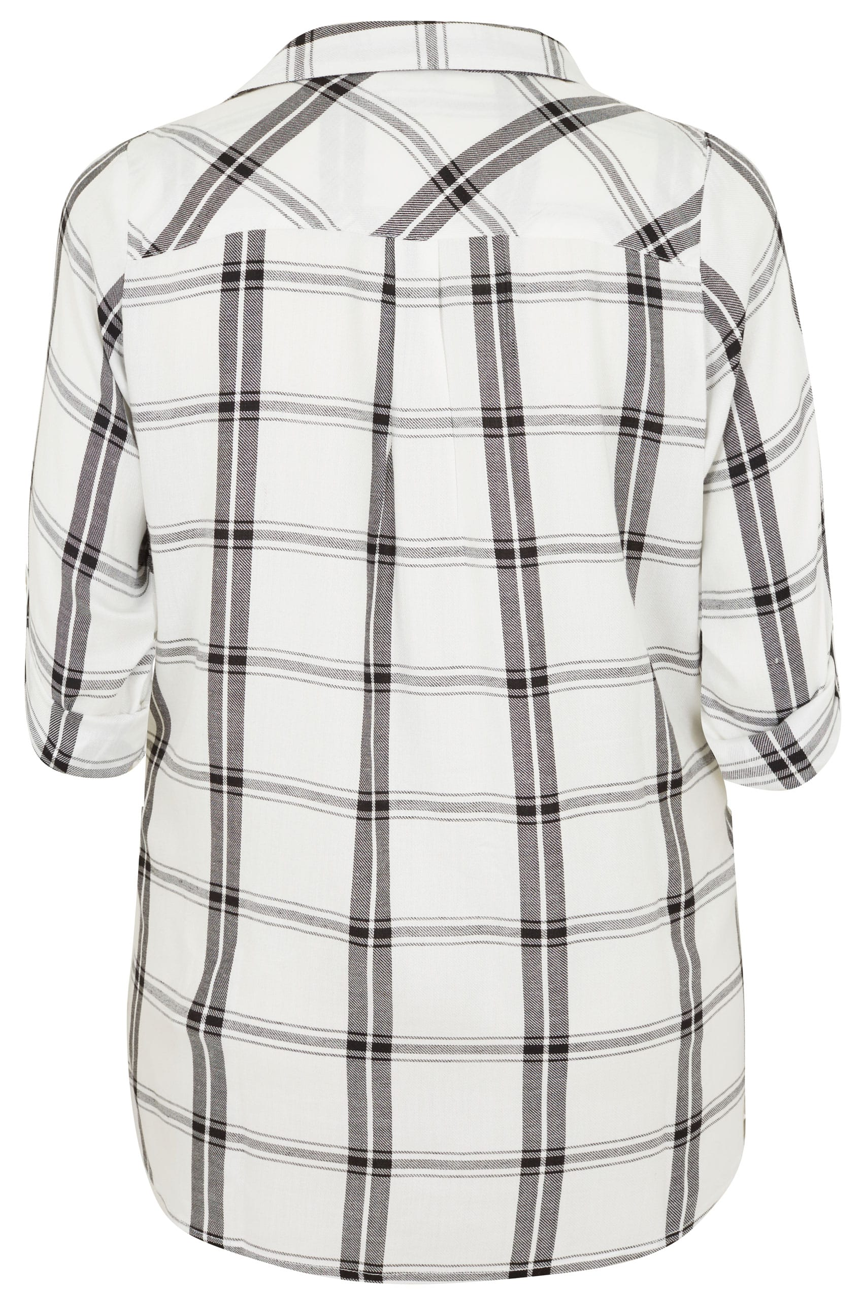 ivory black oversized wide checked shirt with v neck plus size 16 to 36. Black Bedroom Furniture Sets. Home Design Ideas