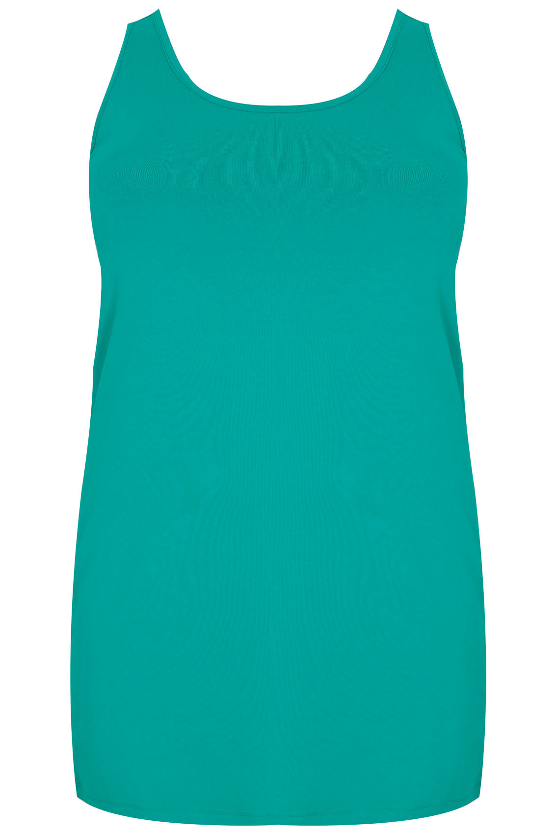 Jade green longline vest top plus size 16 to 36 for Vest top template