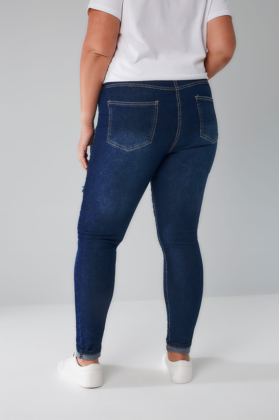 Limited Collection Blaue Skinny Jeans Mit Pailletten Detail