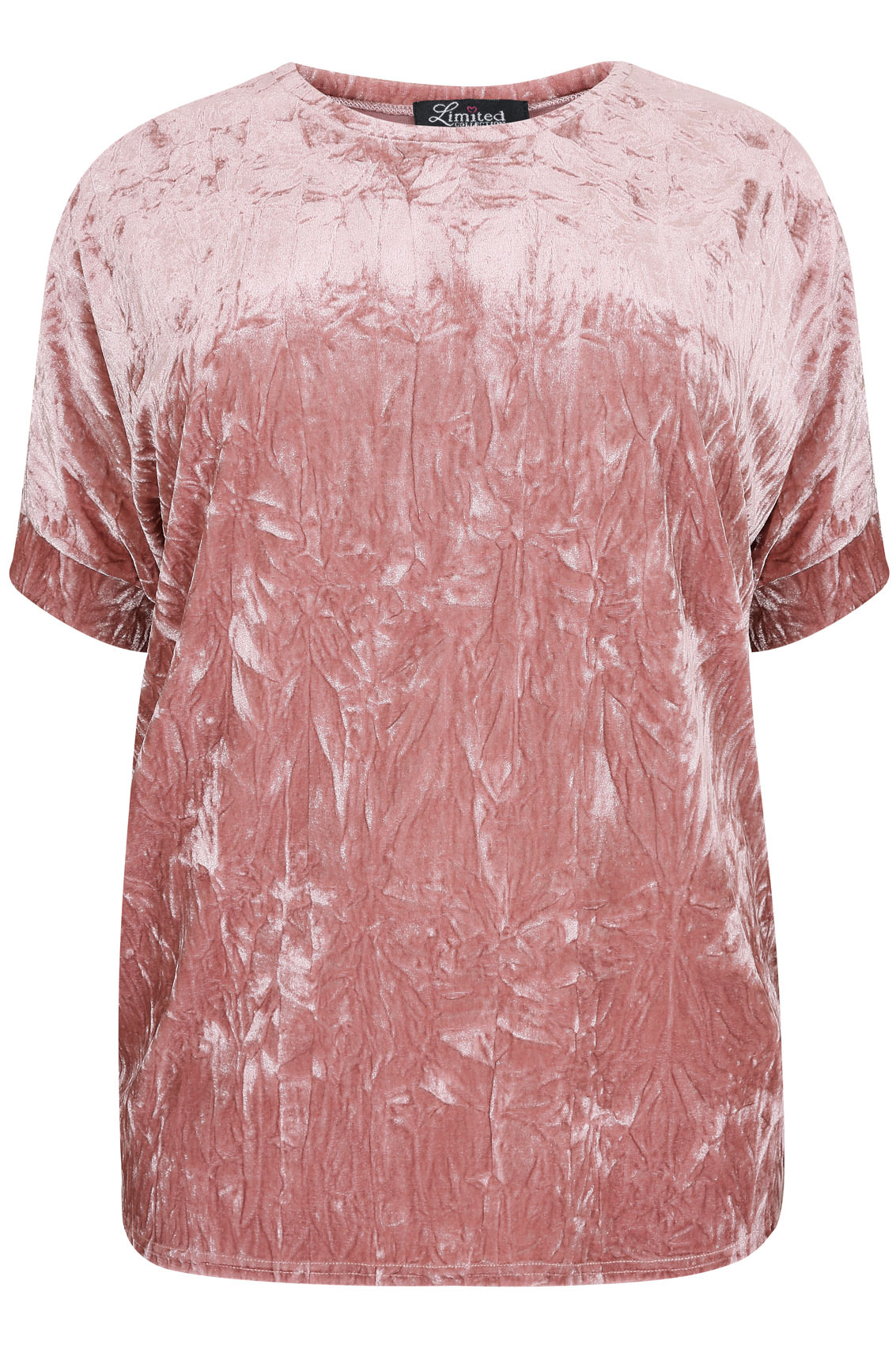 beac691735b11 LIMITED COLLECTION Dusty Pink Crushed Velvet Boyfriend Top