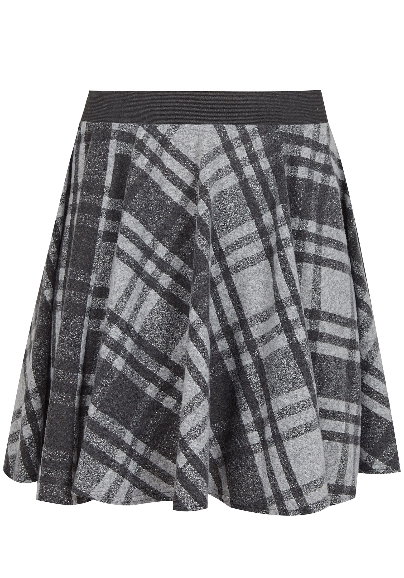 a8ecedc7a2a58 LIMITED COLLECTION Grey Checked Skater Skirt
