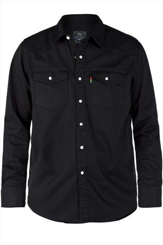 Duke London Black Denim Shirt