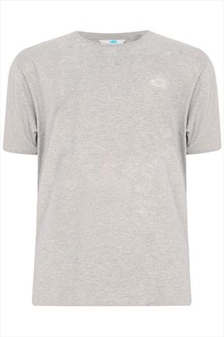 BadRhino Light Grey Marl Basic Plain Crew Neck T-Shirt - TALL