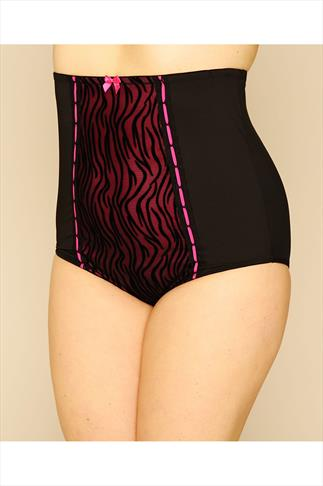 Magenta & Black Zebra Print High Waisted Clincher Brief