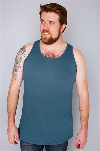 Vests D555 Petrol Blue Crew Neck Vest 057669