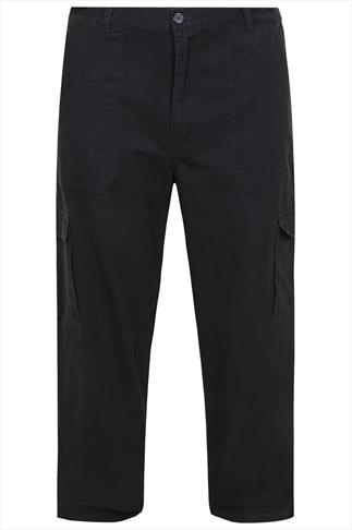 Rockford Black 5 Pocket Cargo Trousers - TALL