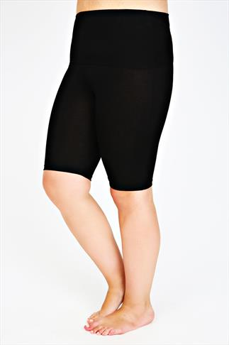 Black TUMMY CONTROL Legging Shorts