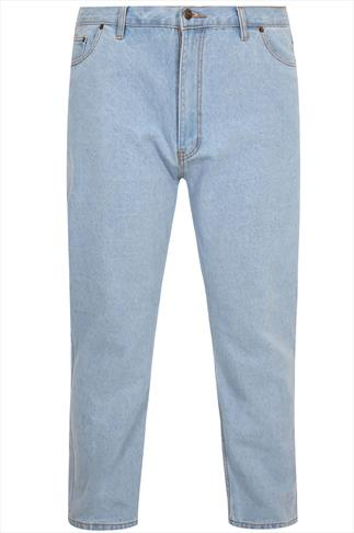 Rockford Light Blue Denim 5 Pocket Jeans - TALL