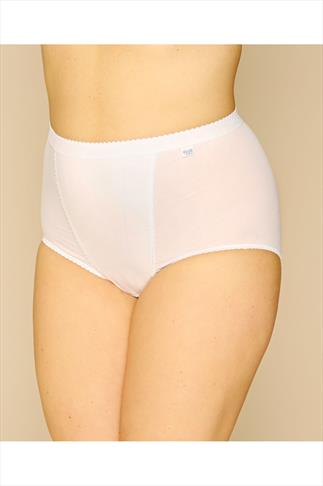 Briefs Knickers SLOGGI 2 PACK White Control Maxi Briefs 014082