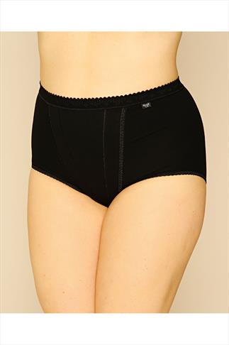 Briefs Knickers SLOGGI 2 PACK Black Control Maxi Briefs 014081