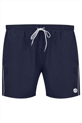 D555 Navy Full Length Swim Short