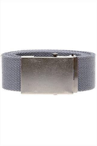 D555 King Size Charcoal Webbing Belt