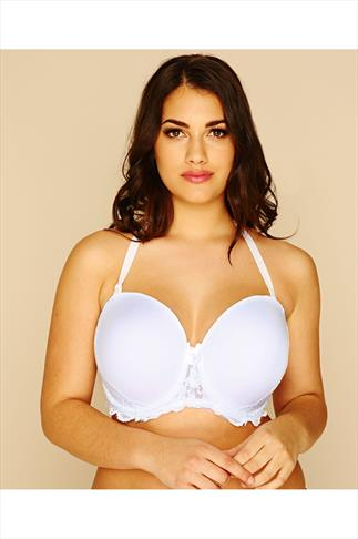 White Multiway Microfibre Lace Bra With Removable Straps 055258