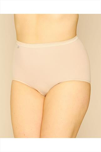 Briefs Knickers SLOGGI 3 PACK Black, White And Nude Basic Maxi Briefs 014074