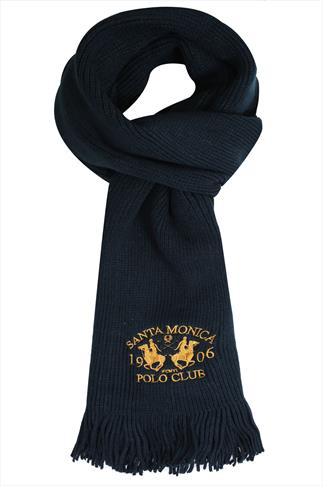 Hats & Scarves SANTA MONICA Navy Knitted Scarf With Tassels 057180